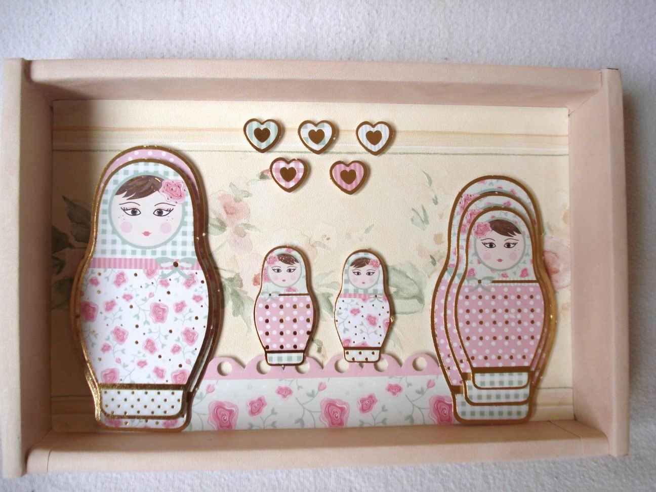 3d bild mit matroschkas babuschkas handmade kultur - 3d bilder basteln ...