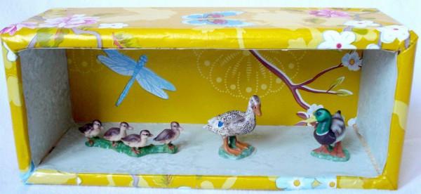 Entenfamilie als 3D-Bild
