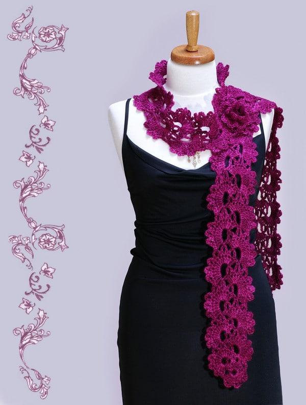 Queen Annes Lace Gehäkelter Spitzenschal Handmade Kultur