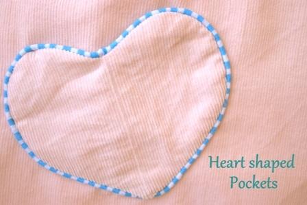 Herzchentaschen mit Paspelrand