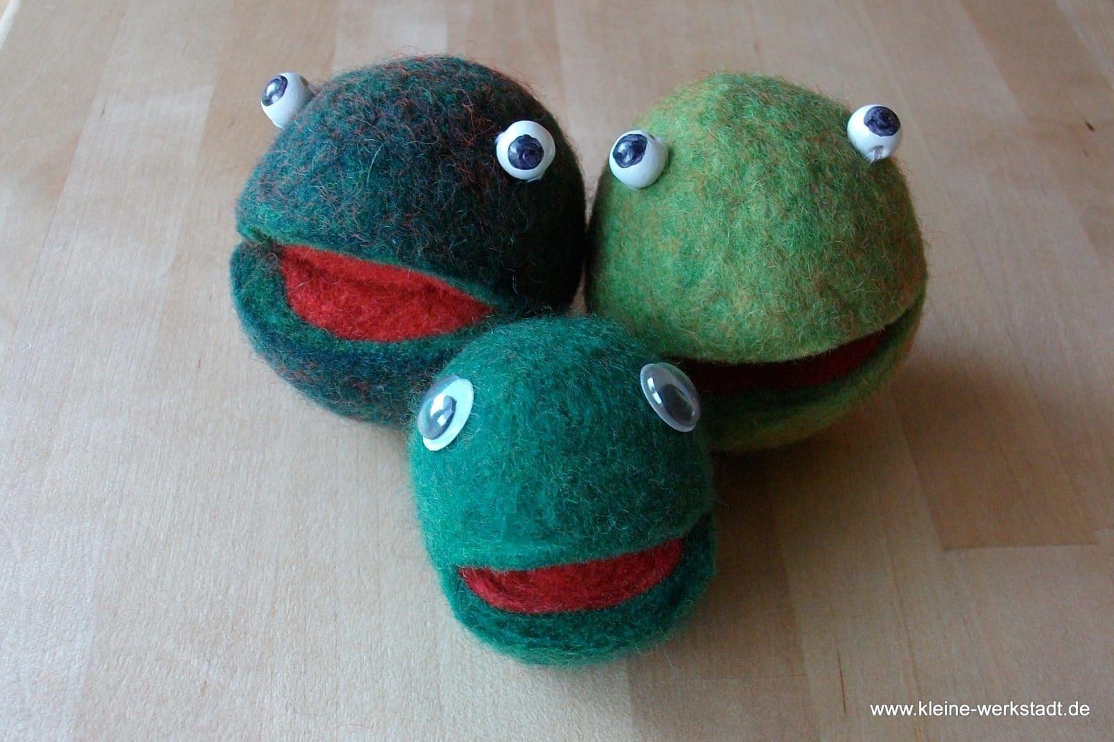 Gefilzter Frosch  Handmade Kultur