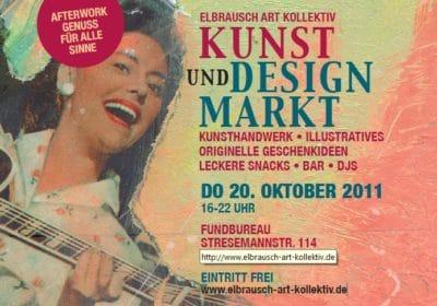 Kunst & Design-Markt mit Schallplattenmusik und Live-Handarbeiten zum mitmachen