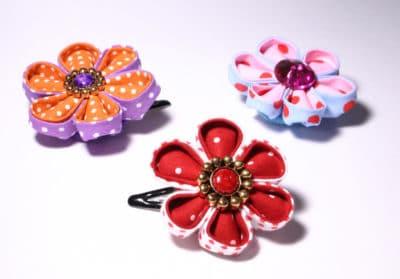 Kanzashi - Blüten aus Stoff