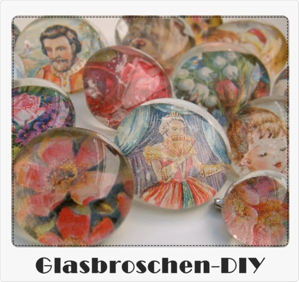 Glasbroschen DIY
