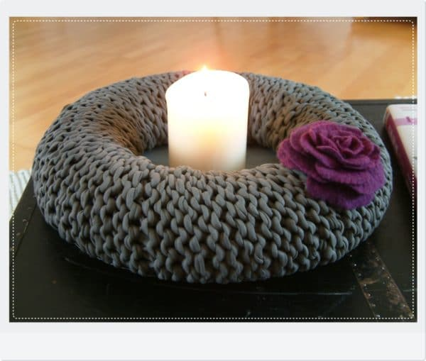 kranz aus zpagetti diy handmade kultur. Black Bedroom Furniture Sets. Home Design Ideas