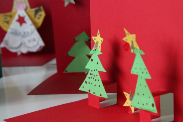 weihnachtskarten in 3d handmade kultur. Black Bedroom Furniture Sets. Home Design Ideas