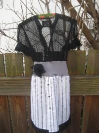 Recycling Emily,süßes Kleid aus einem Herrenhemd und zarter Bluse