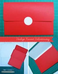 Kuvert zum Valentinstag