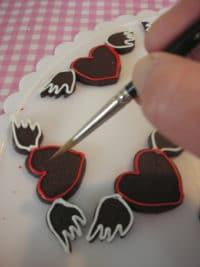 Bemalte Schoko-Cookies