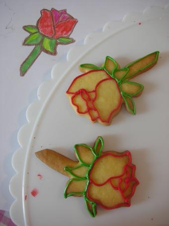 Bemalte Vanille-Cookies