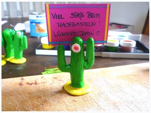 Kaktus-Tischkärtchenhalter