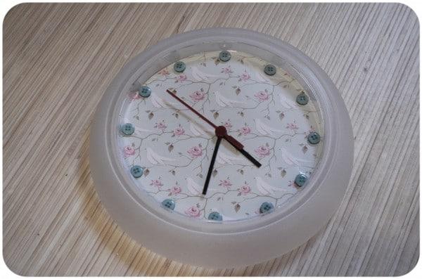 Diy Uhr im Shabby-Stil