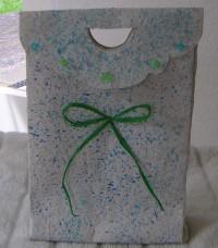 Geschenktasche aus Tapete