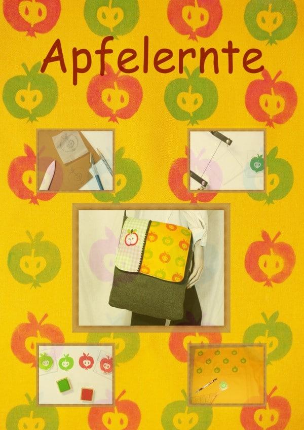 Umhängetasche Apfelernte