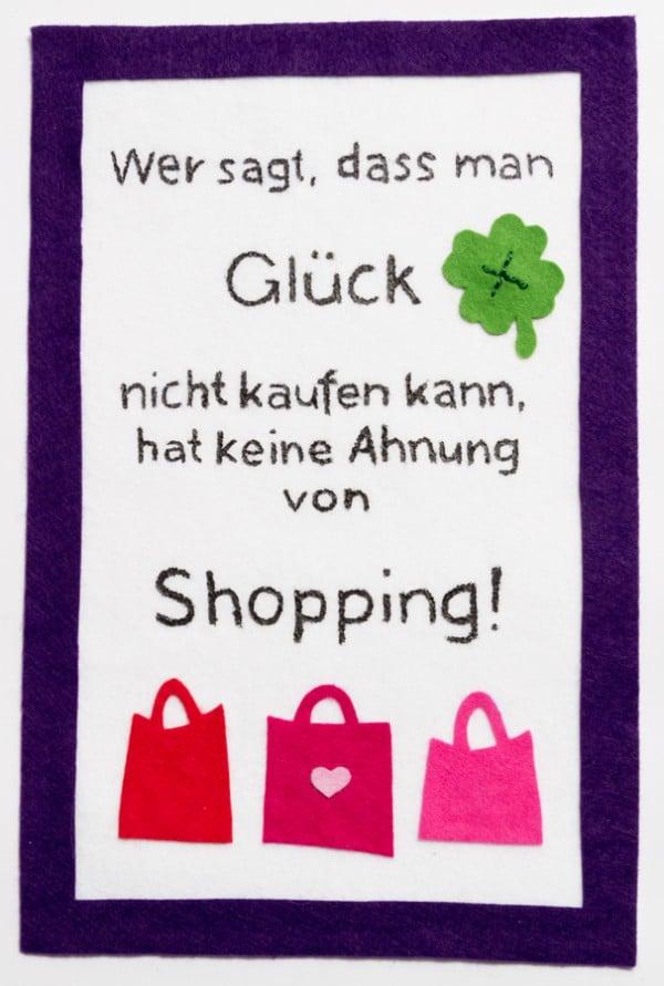 Glück, Shopping und Filz