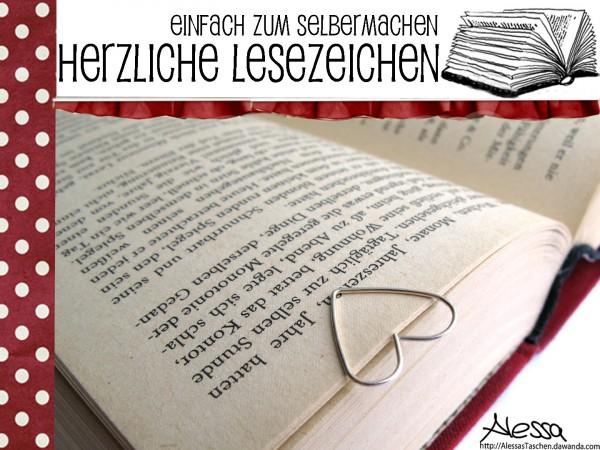 DIY - herzliche Lesezeichen einfach selber machen!