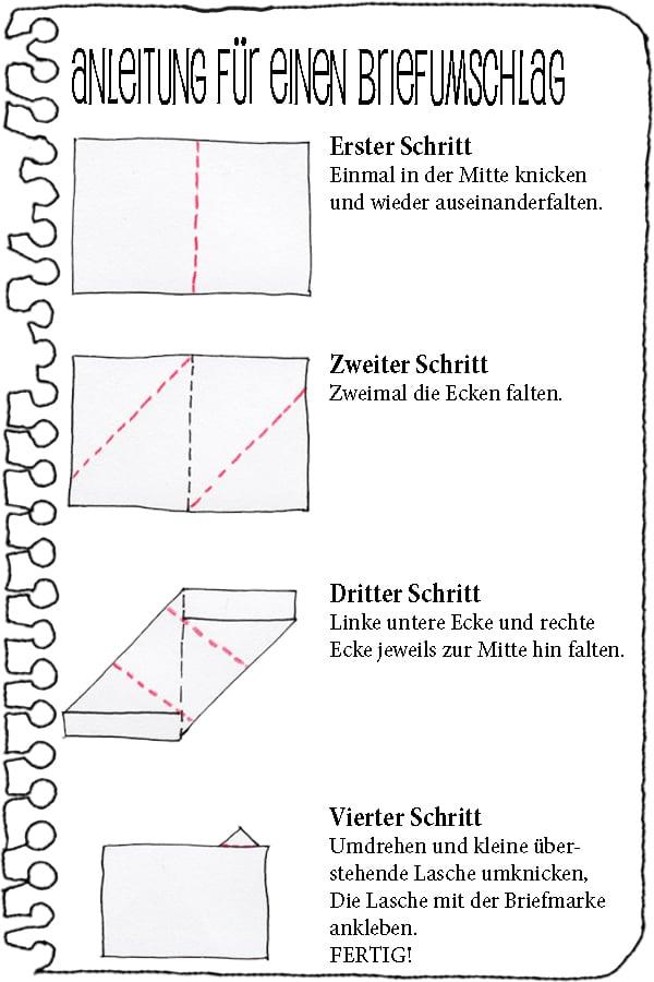 Brief Falten Aus A4 : Anleitung für einen faltbrief handmade kultur