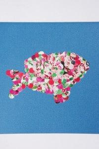 Konfetti Fisch Karte