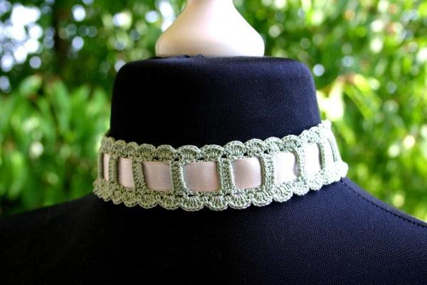 Gehäkeltes Halsband Oder Haarband Handmade Kultur
