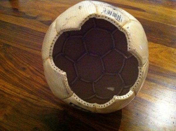 Upcycling Fussball Lampe Handmade Kultur