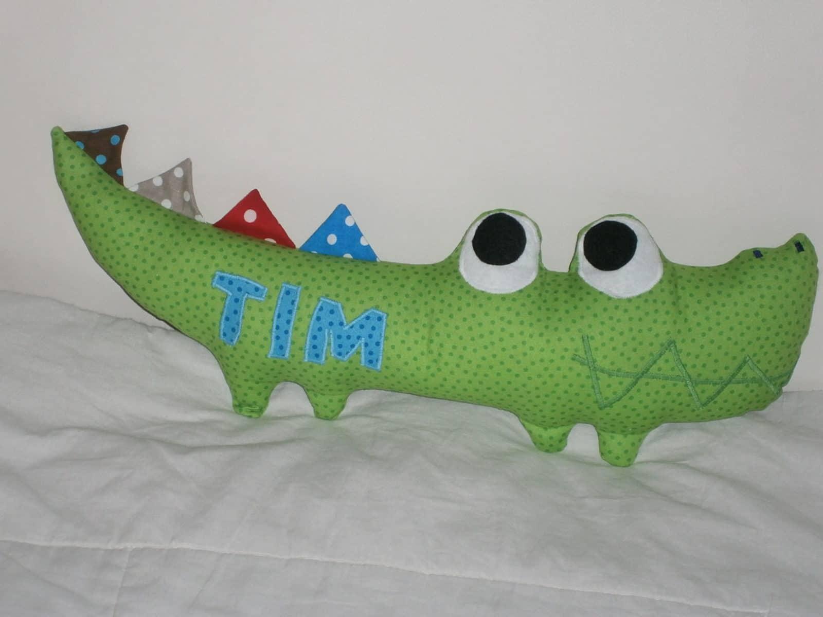 Krokodil für meinen Sohn zur Einschulung - HANDMADE Kultur
