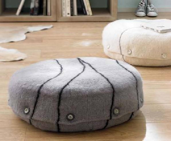 rundes bodenkissen handmade kultur. Black Bedroom Furniture Sets. Home Design Ideas