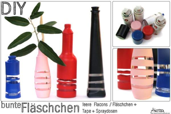 DIY - bunte (Parfum)fläschchen