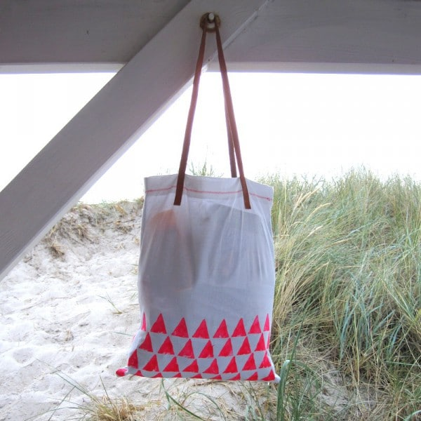 Statement Tasche [DIY] Dreiecke in Neon