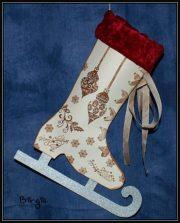 Schlittschuh-Deko zu Weihnachten