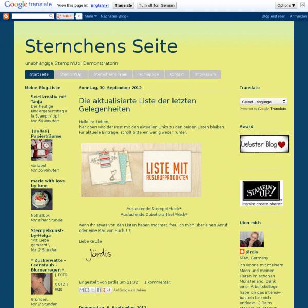Sternchens-Seite