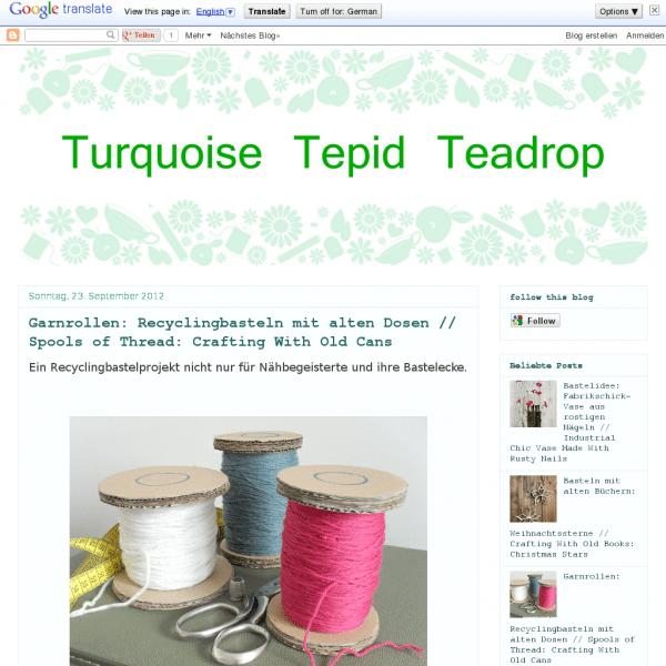 Turquoise Tepid Teadrop