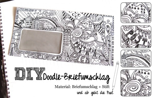 Doodle-Briefumschlag
