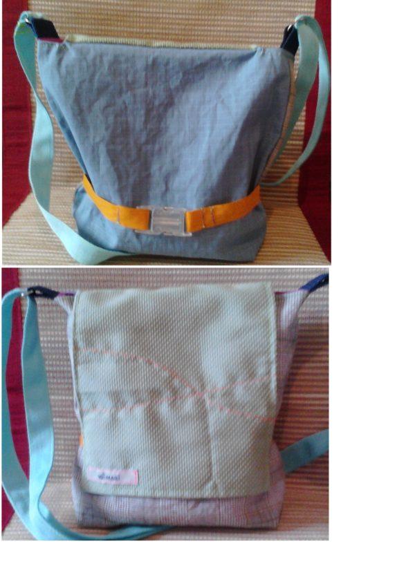 Tasche mit rückseitigem Verschluss