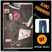 Jeans Pinnwand (upcycling Project)
