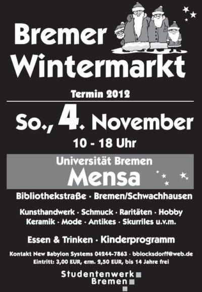 Wintermarkt in der Bremer Uni Mensa
