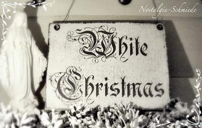 Dekoschild Türschild White Christmas