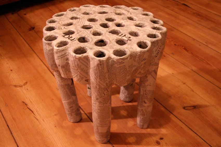 klorollen hocker handmade kultur. Black Bedroom Furniture Sets. Home Design Ideas