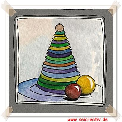 Buntes Weihnachtsbäumchen aus Filz basteln