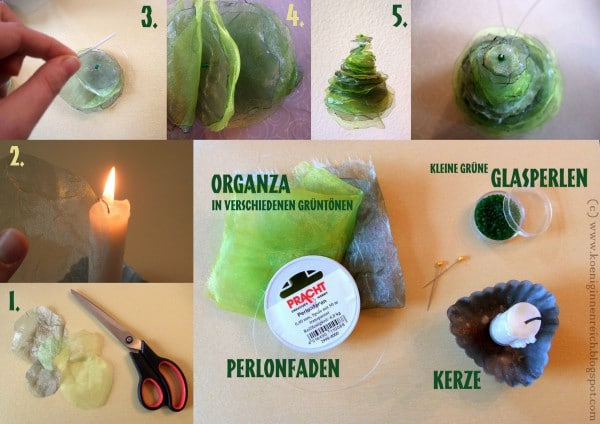 DIY Organza-Tannenbäumchen