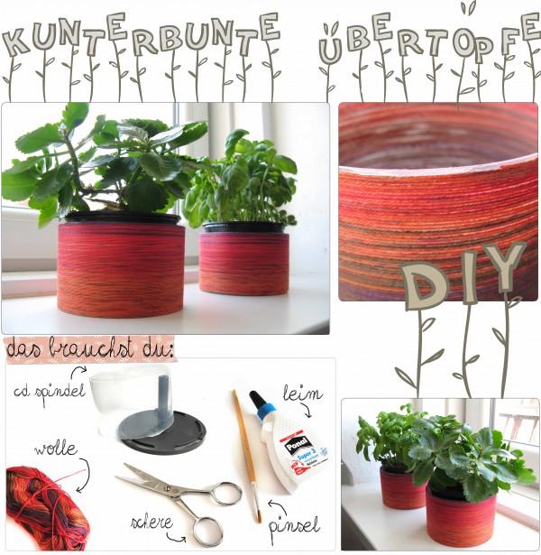 DIY - Frühliche Blumentöpfe