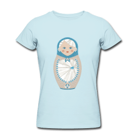 eaudecollage > matrjoschka shirt (American Apparel, hellblau)