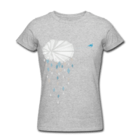 eaudecollage > rainshower shirt (American Apparel, grau)