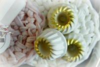 Kerzenständer mini Gugelhupf Gold