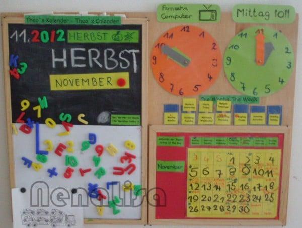 Kalenderwand für Kinder