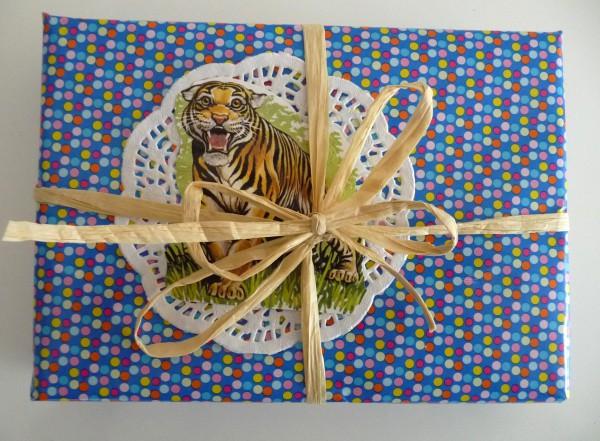 DIY Deko für Geschenkverpackung