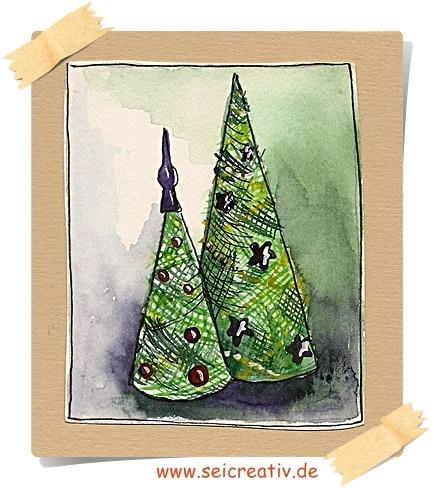 Oh, Tannenbaum! – Weihnachtsbaum im Sisallook