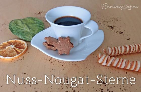 Nuss-Nougat-Sterne selbstgemacht