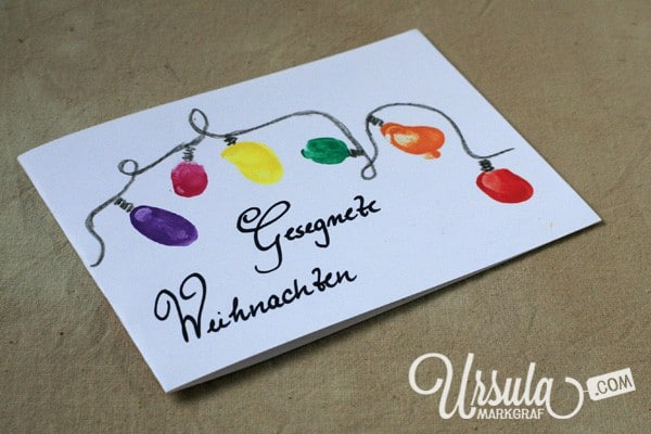 Weihnachtskarten Mit Fingerabdruck.Selbstgemachte Weihnachtskarten Handmade Kultur