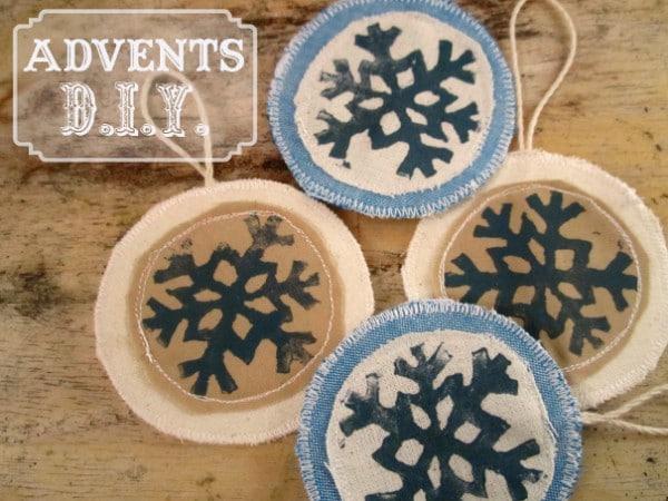 Schneeflocken-Geschenkanhänger