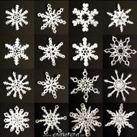 Sechseckige Schneeflocken aus Papier - Anleitung